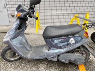 足立区綾瀬で無料で引き取り処分をした原付バイクのJOG