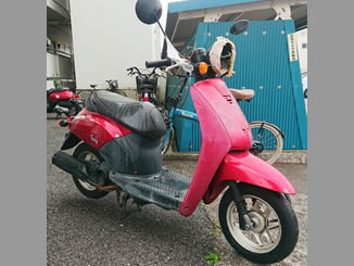 足立区中央本町で無料で引き取り処分をした原付バイクのトゥデイ