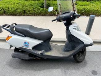 小平市花小金井南町で無料で引き取り処分と廃車をした原付バイクのスペイシー100