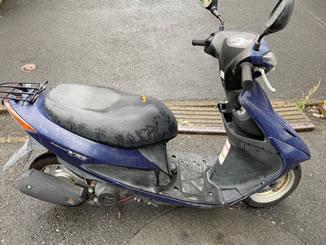 杉並区下高井戸で無料で引き取り処分と廃車をした原付バイクのアドレスV50