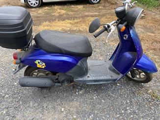 坂東市辺田で無料で引き取り処分と廃車をした原付バイクの初代トゥデイ
