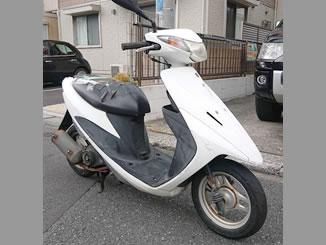 市川市本塩で無料で引き取り処分と廃車をした原付バイクのスズキのアドレスV50