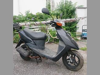 足立区西新井で無料で引き取り処分と廃車手続き代行をした原付バイクのスズキ レッツ2
