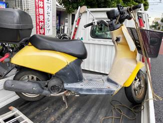 東京都足立区で無料で引き取り処分と廃車手続き代行をした原付バイクのホンダ トゥデイ(BA-AF61)