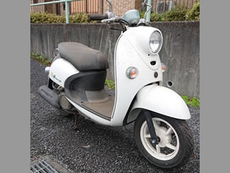 千葉市花見川区宮野木台で無料で引き取りと廃車をした原付バイクのヤマハ ビーノFI DX