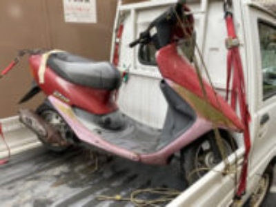 足立区千住桜木で原付バイクのホンダ ライブDio Sを無料引き取りと処分