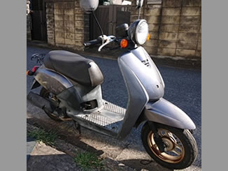 さいたま市岩槻区西町で無料で引き取り処分と廃車をした原付バイクのホンダ トゥデイ