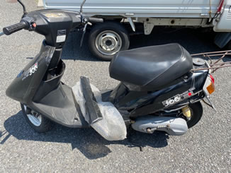 川口市前川で無料で引き取り処分と廃車をした原付バイクのヤマハ JOG Artistic Spec