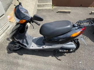 横浜市青葉区恩田町で無料で引き取り処分と廃車をした原付バイクのヤマハ JOG FI
