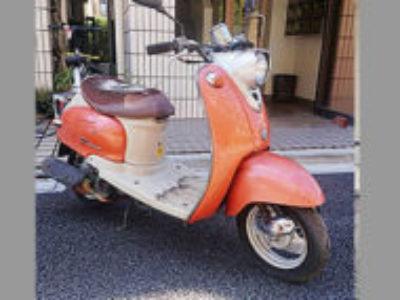練馬区旭町で原付バイクのヤマハ ビーノ2スト オレンジを無料引き取りと処分と廃車手続き代行