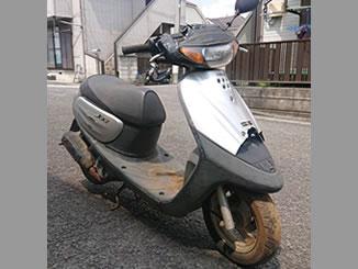 練馬区南大泉で無料で引き取り処分と廃車をした原付バイクのヤマハ JOG(YV50Z)