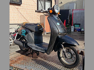 川口市東本郷で無料で引き取り処分と廃車をした原付バイクのホンダ トゥデイ