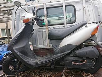 松戸市上本郷で無料で引き取り処分と廃車をした原付バイクのスズキ レッツ2