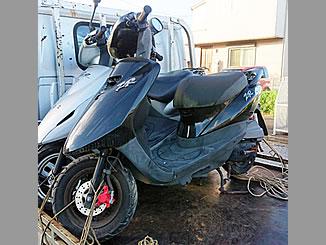 袖ケ浦市蔵波で無料で引き取り処分と廃車をした原付バイクのヤマハ JOG ZR