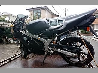 千葉市中央区蘇我で無料で引き取り処分と廃車をした原付バイクのNS-1