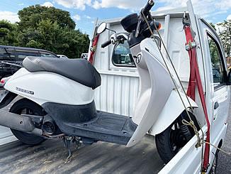 足立区谷在家で無料で引き取り処分と廃車をした原付バイクのホンダ トゥデイ F