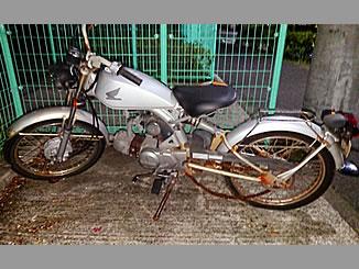 浦安市富岡で無料で引き取り処分と廃車をした原付バイクのホンダ ソロ