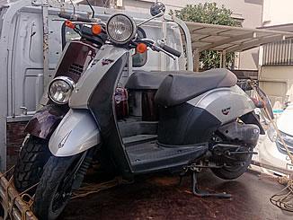 さいたま市南区内谷で無料で引き取り処分と廃車をした原付バイクのホンダ トゥデイ DX