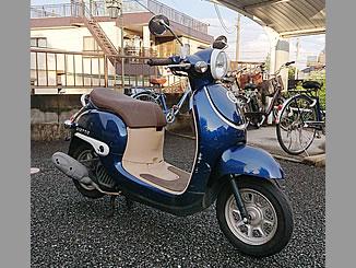 八王子市中野上町で無料で引き取り処分と廃車手続き代行をした原付バイクのホンダ ジョルノ FI アーベインデニムブルーメタリック