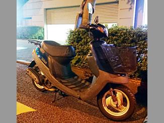 多摩市永山で無料で引き取り処分と廃車をした原付バイクのヤマハ JOG アプリオ