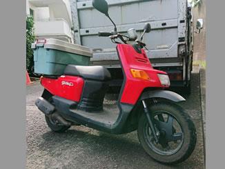 川崎市宮前区土橋で無料で引き取り処分と廃車をした原付バイクのヤマハ ギアC