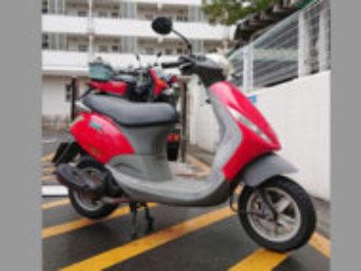 東京都江戸川区清新町で原付バイクのピアジオ ZIP50 レッドを無料で引き取りと処分