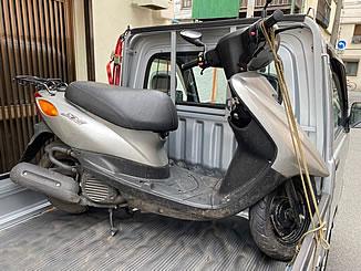 台東区清川で無料で引き取り処分と廃車をした原付バイクのヤマハ JOG FI