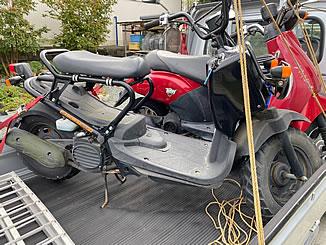 群馬県高崎市で無料で引き取り処分と廃車手続き代行をした原付バイクのホンダ ズーマー