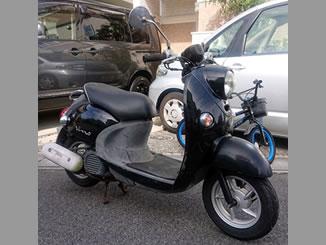 松戸市で無料で引き取り処分と廃車手続き代行をした原付バイクのヤマハ ビーノ4スト