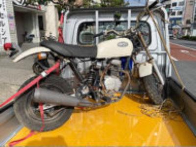 墨田区で原付バイクのホンダ エイプ50 クラシカルホワイトを無料引き取り処分と廃車手続き代行