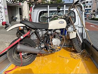 墨田区で無料で引き取り処分と廃車手続き代行をした原付バイクのホンダ エイプ50 クラシカルホワイト