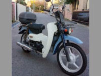 習志野市で原付バイクのスズキ バーディ50 グレイッシュブルー色を無料で引き取り処分と廃車手続き代行