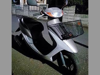 町田市矢部町で無料で引き取り処分と廃車手続き代行をした原付バイクのホンダ ライブDio 前カゴ付き