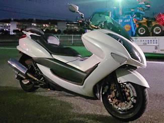 宇都宮市野沢町で無料で引き取り処分と廃車手続き代行をした250ccバイクのヤマハ マジェスティ250