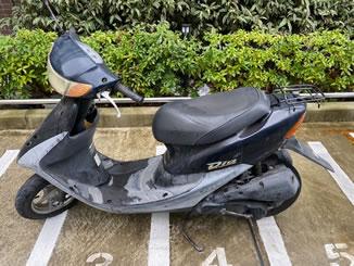 品川区荏原で無料で引き取り処分と廃車手続き代行をした原付バイクのホンダ ライブDio J ブラック