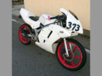 立川市で原付バイクのホンダ NS-1 レース仕様車 ホワイト色を無料で引き取りと処分