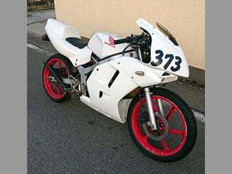 立川市で無料で引き取り処分をした原付バイクのホンダ NS-1 レース仕様車 ホワイト色