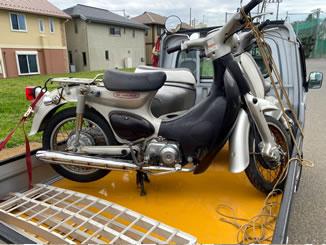 船橋市坪井東で無料で引き取り処分と廃車手続き代行をした原付バイクのホンダ リトルカブ スパークリングシルバーメタリック