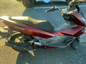 宇都宮市で無料で引き取り処分と廃車手続き代行をした原付バイクのホンダ PCX125 キャンディーノーブルレッド