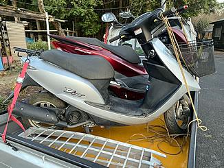 日光市で無料で引き取り処分とあ廃車手続き代行をした原付バイクのホンダ Dio シグマシルバーメタリック