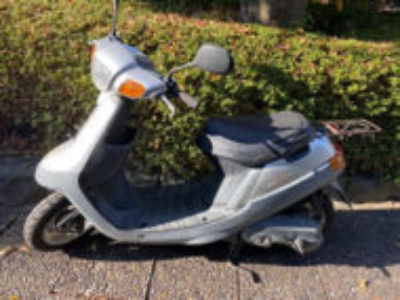 横浜市都筑区で原付バイクのヤマハ アプリオ後期型を無料引き取り処分と廃車手続き代行
