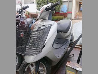港区西麻布で無雨量で引き取り処分と廃車手続き代行をした原付バイクのホンダ スマートDio(BA-AF56) 港区西麻布で原付バイクのホンダ スマートDio(BA-AF56)