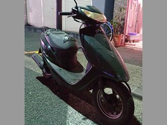 墨田区で無料で引き取り処分と廃車手続き代行をした原付バイクのホンダ Dio(4サイクル) パールプロキオンブラック色