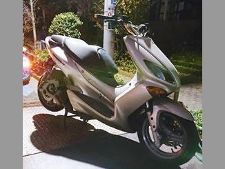 東京都港区で無料で引き取り処分と廃車手続き代行をした原付バイクのヤマハ XQ125(MAXSTAR125)