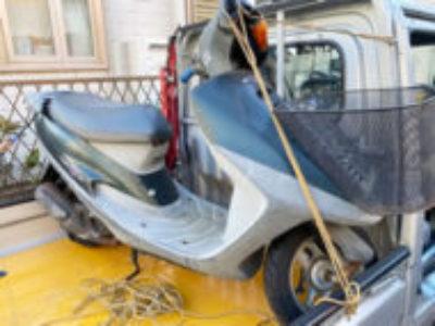 横浜市港南区で原付バイクのホンダ タクト(A-AF30型) ダークグリーン色を無料で引き取り処分と廃車手続き代行