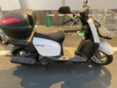 台東区で原付バイクのヤマハ ギア(2BH-UA08J)を無料で引き取り処分と廃車手続き代行