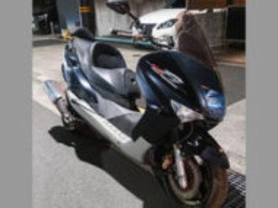 足立区内で原付125ccバイクのヤマハ マジェスティ125 FIを無料引き取り処分と廃車手続き代行