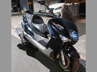 足立区内で無料で引き取り処分と廃車手続き代行をした原付125ccバイクのヤマハ マジェスティ125 ブラック
