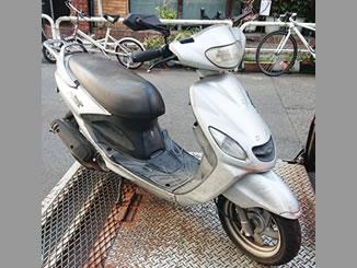 千代田区で無料で引き取り処分と廃車手続き代行をした原付バイクのヤマハ グランドアクシス100 フェアリーシルバー