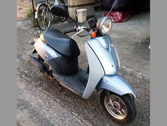 市川市で無料で引き取り処分と廃車手続き代行をした原付バイクのホンダ 初代トゥデイ(BA-AF61) シリウスブルーメタリック